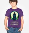 a-not-so-terrible-parable-kids-t-shirt-displayed