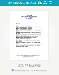 camel-lot-script-and-lyrics-cover-page