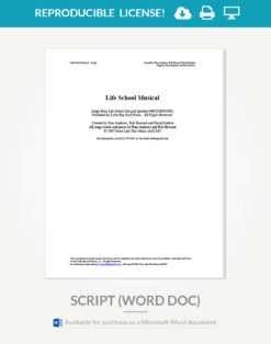 life-school-musical-script-cover-page