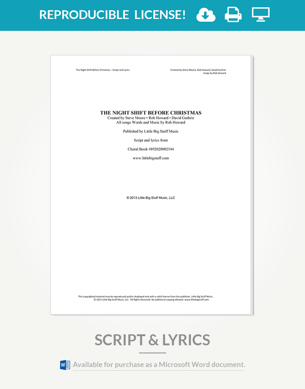 The Night Shift Before Christmas Reproducible Script & Lyrics ...