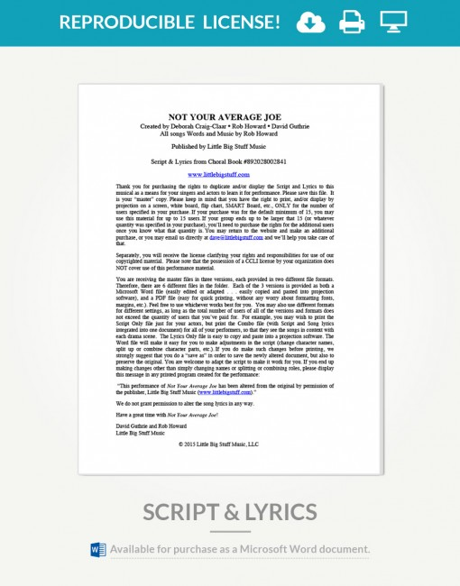 not-your-average-joe-script-and-lyrics-cover-page