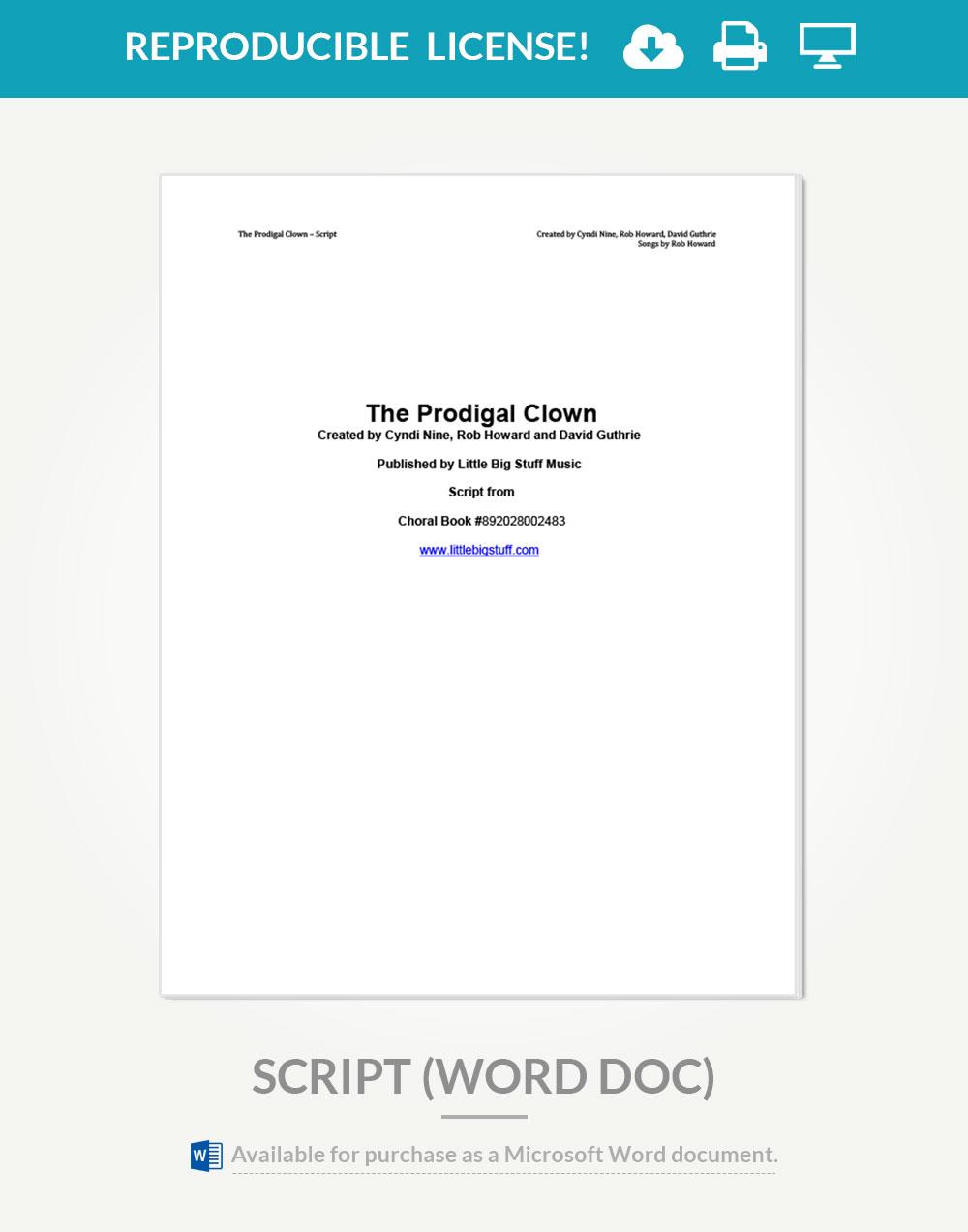 the prodigal clown reproducible script lead sheets little big the prodigal clown reproducible script lead sheets little big stuff